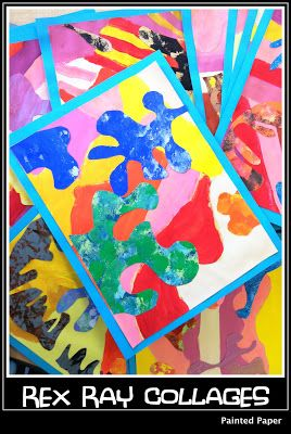 Painted Paper Collages