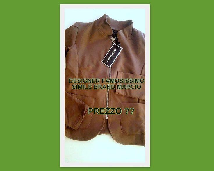 FELPA Giacca BLAZER  simile famoso Brand Marca Casual Donna Fango  Taupe Tg.M
