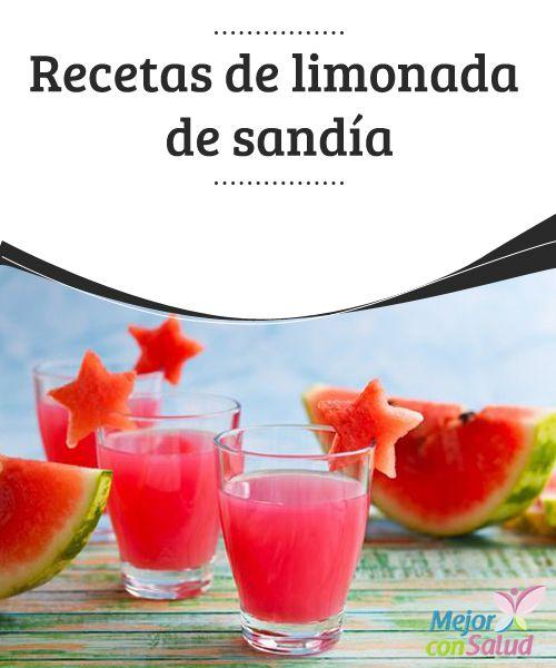 Recetas de limonada de sandía   En este artículo te daremos algunas recetas para que puedas disfrutar de una riquísima limonada de sandía además de otros deliciosos ingredientes para darle más sabor.