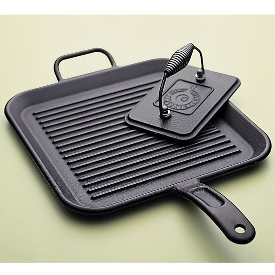 Lodge® Cast Iron Grill Pan in Griddles  Grill Pans | Crate and Barrel