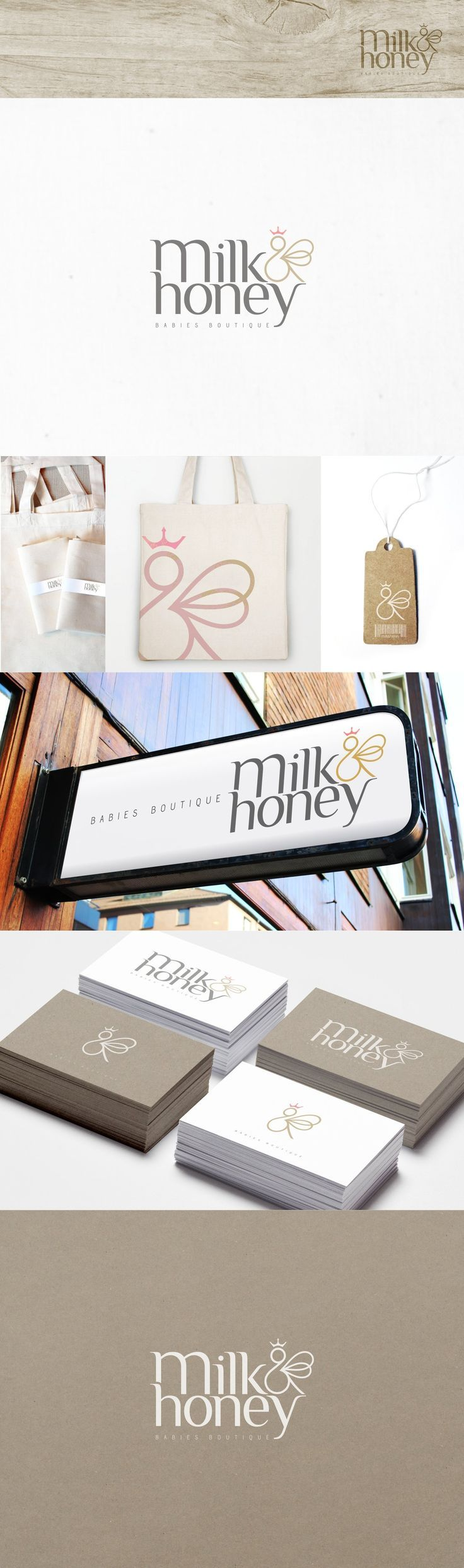milk&honey logo and branding http://jrstudioweb.com/diseno-grafico/diseno-de-logotipos/