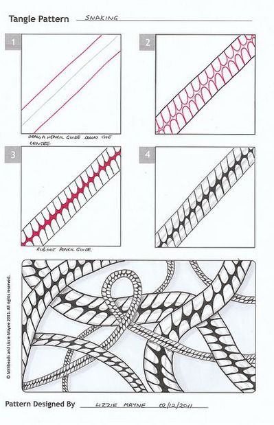 Images of Easy Zentangle Patterns Step By Step - #rock-cafe