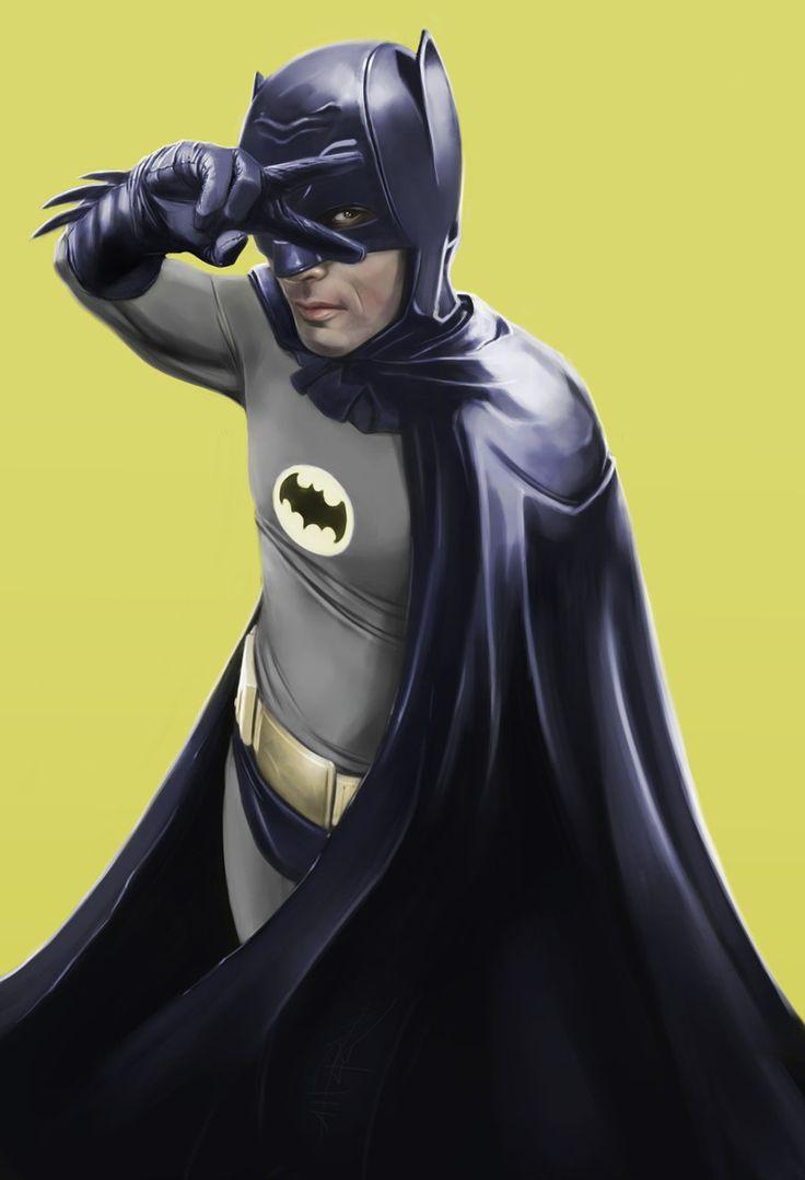 Adam West as Batman by KriegDerSterne77