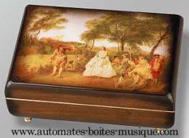 """Boîtes à bijoux musicales avec photo Boîte à bijoux musicale avec photo : boîte à bijoux musicale """"Scène champêtre"""""""