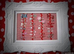 clip and hairbow storage tutorial love the for Tabitha hair clips! Cute!