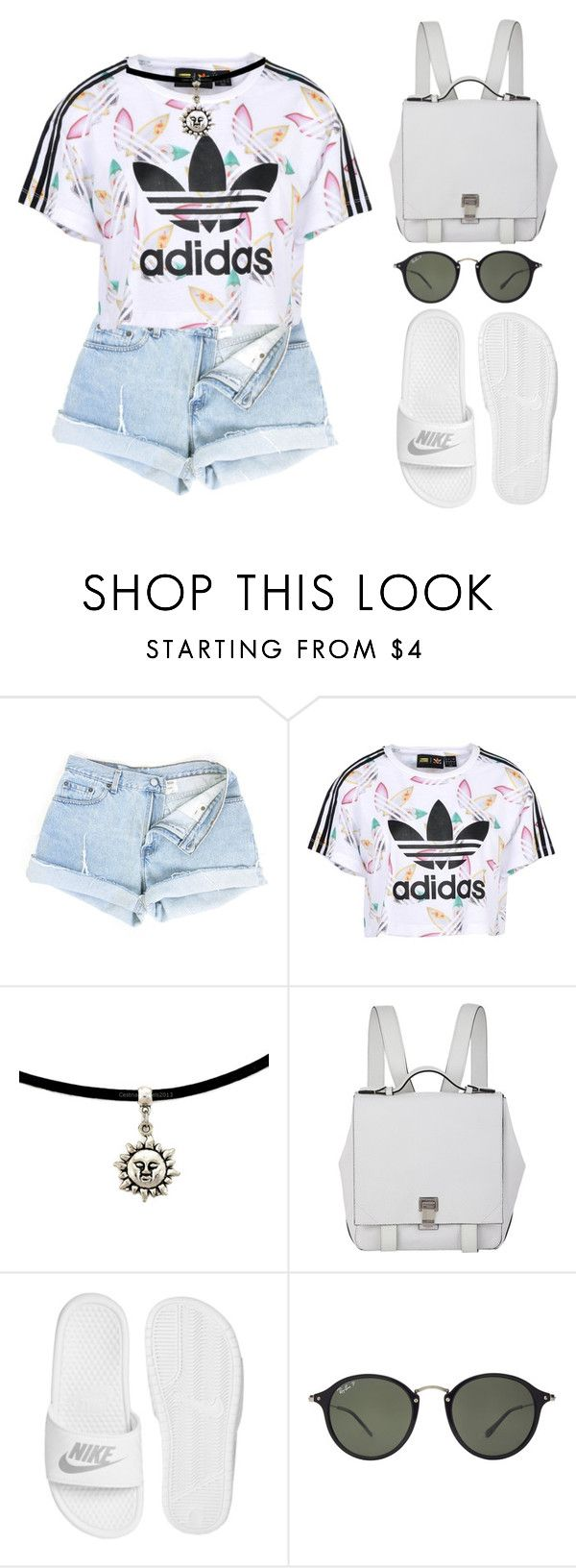 """adidas"" by melanie-pacheco ❤ liked on Polyvore featuring adidas Originals, Proenza Schouler, NIKE and Ray-Ban"