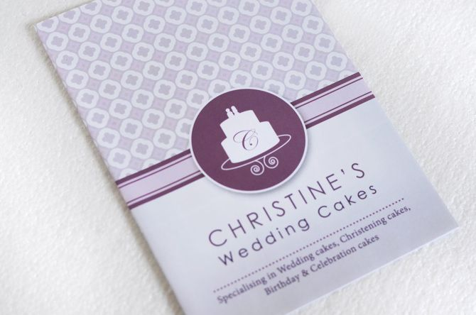 A two-fold leaflet designed for a small wedding cake business. The use of pastel colours were used to work with the overall stylish and modern design of the brochure.