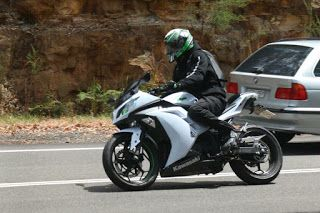Luke on the 2015 Kawasaki Ninja 300
