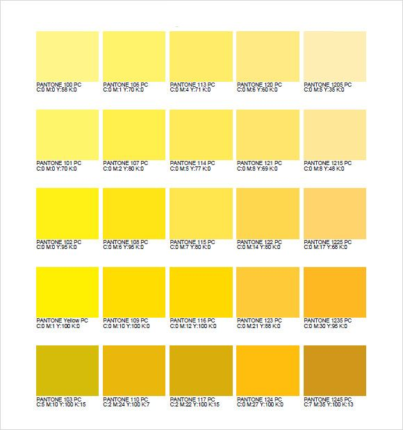 Image Result For Pantone Colour Swatches Yellow Pms Color Chart Color Palette Yellow Pms Colour