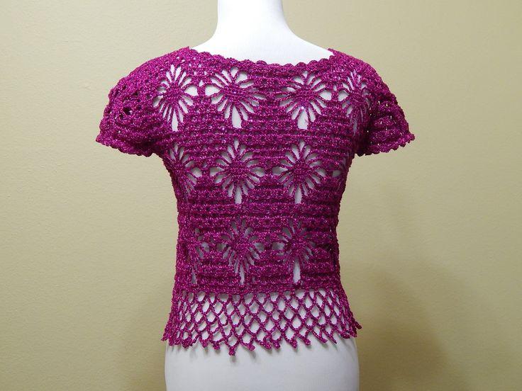 Bolero Bugambilia Crochet parte 2 de 3