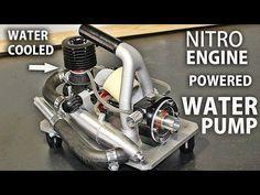 Stirling engine type alpha - YouTube