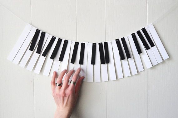 Piano Garland Paper Music Garland Band Party by ElisabethNicole, $15.00