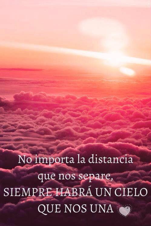 Sin tiempo ni distancia.