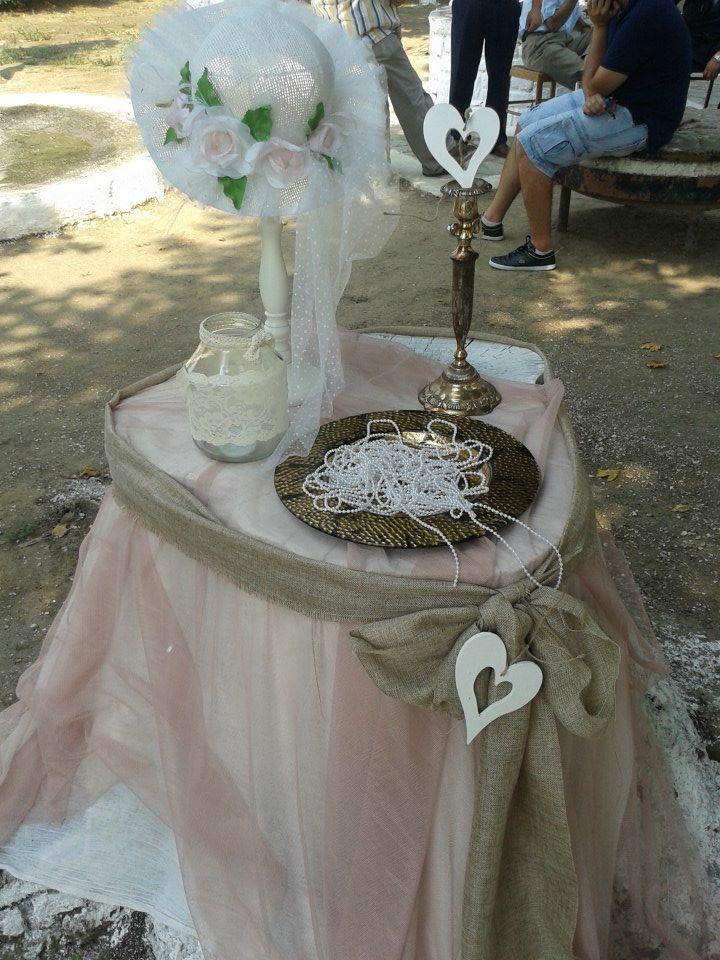 romantic vintage pearls centerpiece