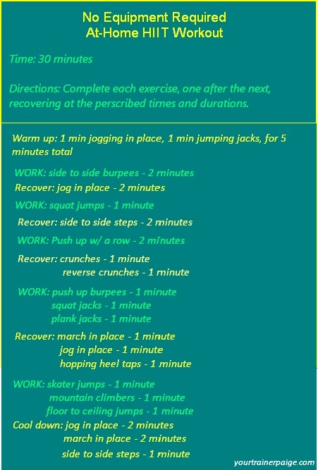 At Home Hiit Workout Workouts Fitness Pinterest