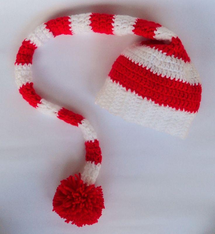 Fantástico Recién Nacido De Santa Patrón De Crochet Sombrero Patrón ...