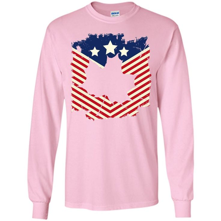 Canadian American Flag 4th of July Independence Day T-Shirt