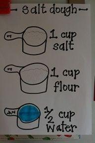 salt dough for ornaments : )