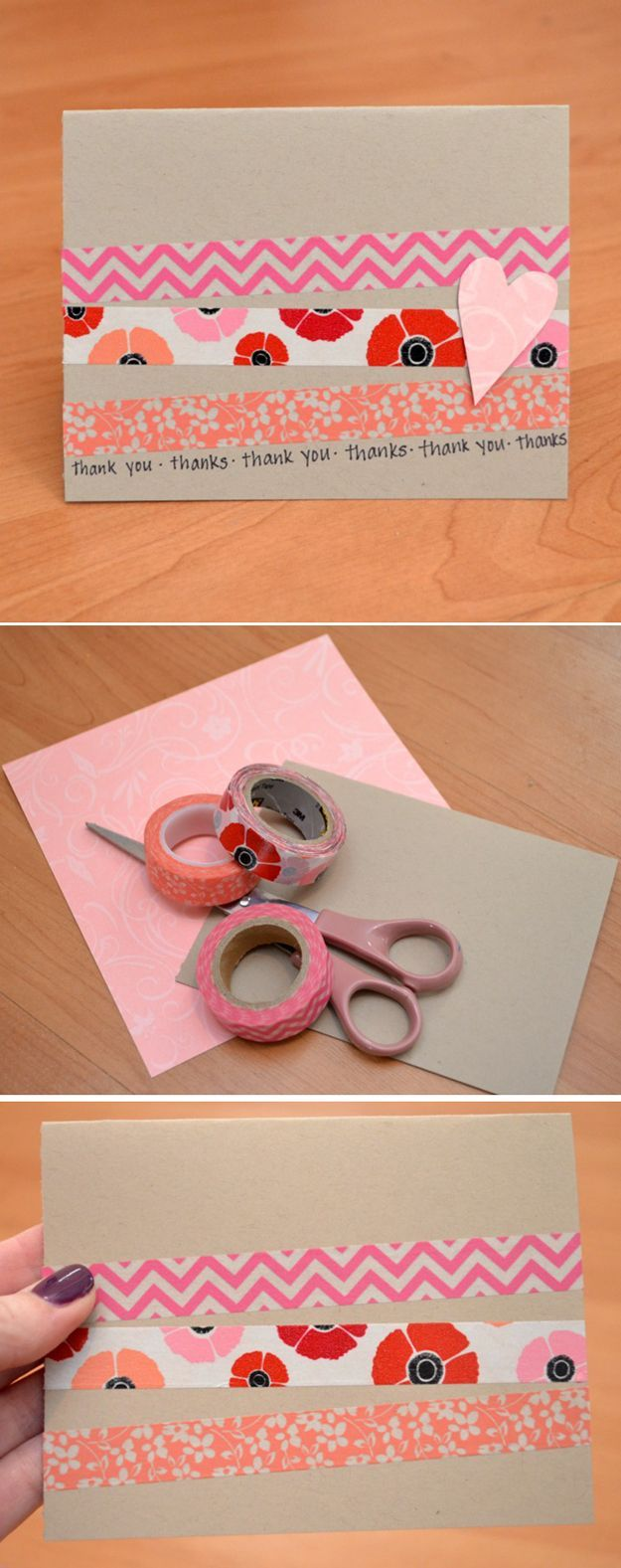 Cheap DIY Washi Tape Card Ideas by DIY Ready at diyready.com/...