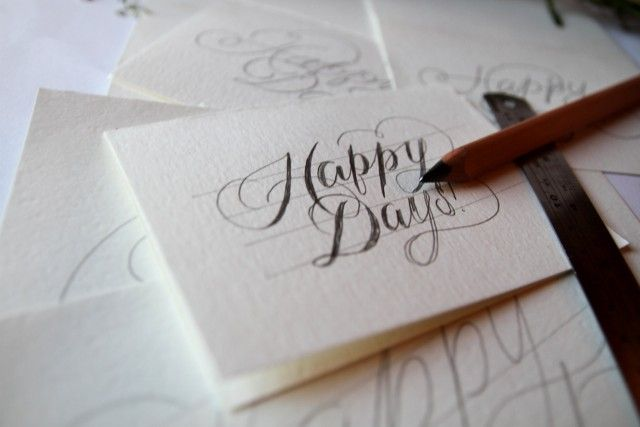 Hand Lettering Tutorial ....and then upload to www.simonstamp.com for your very own 100% custom stamp!
