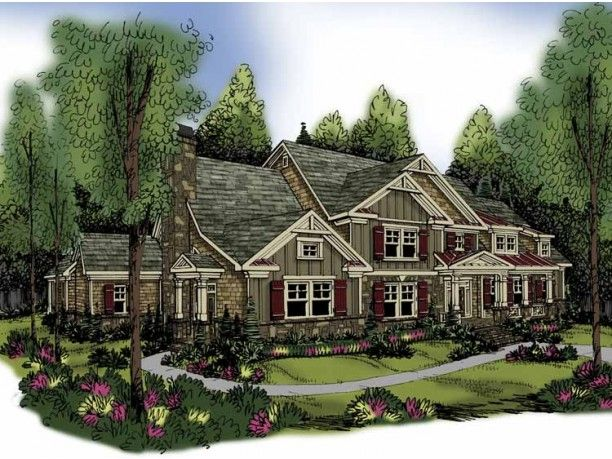 Eplans Craftsman House Plan   Five Bedroom Craftsman   4405 Square Feet And 5  Bedrooms From Eplans   House Plan Code (Krause)