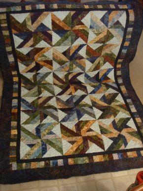 Finished Trade Winds Batik Quilt