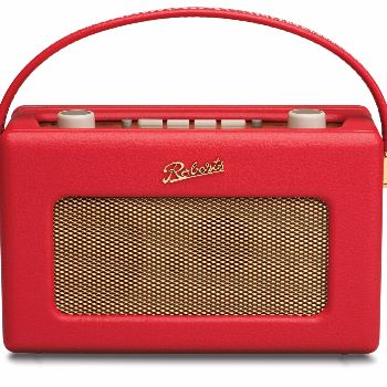 Roberts  Roberts DAB Radio - Red: The iconic 'Revival' DAB radio is a nostalgic 1950s style retro radio with advanced DAB features. In a range of colours it not only looks great it sounds great too. Now with 120 hours battery life this fantastic DAB radio is more portable than ever.