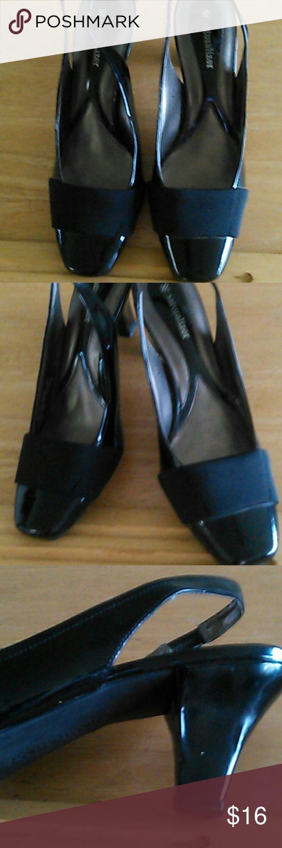 Naturalizer Ladies Slingbacks, Medium Heels Black patton slingback ladies shoes, size 8 Naturalizer Shoes Heels