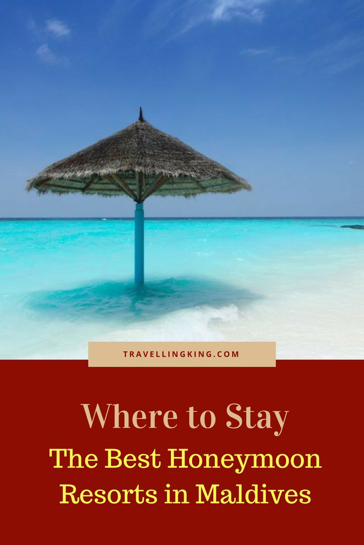 Where to Stay – The Best Honeymoon Resorts in Maldives.    The Maldives are made of oval-shaped atolls and thousands of little islands, which are world famous as the leading exotic destination for honeymooners. With long beaches, sparkling white sand and fringed with palm trees line up the shores and beautiful cottages dotted around #maldives #honeymoon