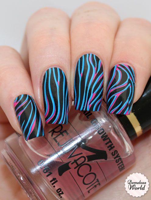 Psychedelic Zebra Nail Polish Strips http://www.omgnailstrips.com/nail-polish-strips/psychedelic-zebra-nail-strips
