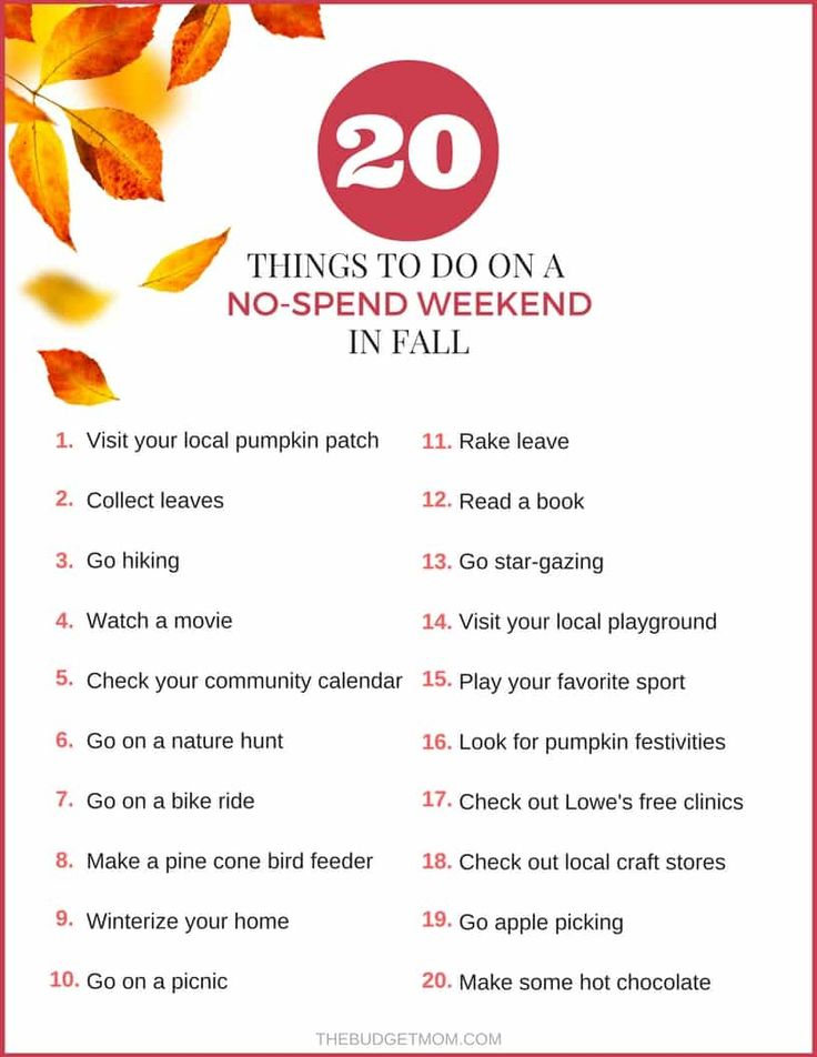 20 Things to Do on a No-Spend Weekend in Fall – Money stuff