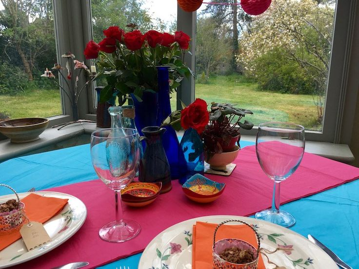 Mexican Fiesta Moroccan Theme Brightly Coloured Wedding Decorations Table DIY Budget