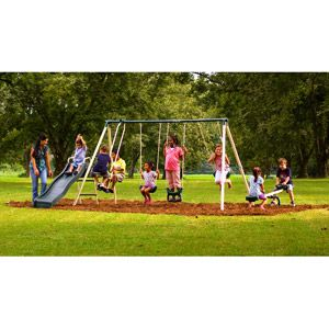 Flexible Flyer Backyard Swingin' Fun Metal Swing Set $149