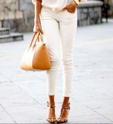 18 štýlových nápadov ako využiť biele nohavice