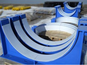 Redwood Plastics supplies both the Redco PTFE and Redco UHMW required for pipe saddles and plates.