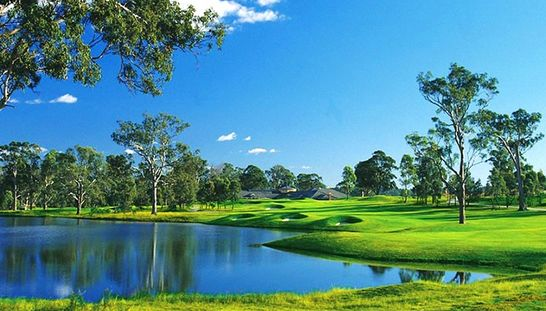 Play one of the top 100 public golf courses in Australia at the beautiful Camden Lakeside Country Club! This offer includes 18 holes for 2 with motorised cart, range balls & refreshment vouchers. Normally $143, today just $68! #golf #golfsyd