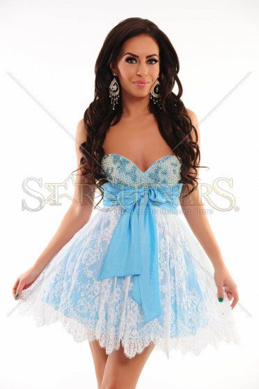 Sherri Hill Radiant Glamour Blue Dress