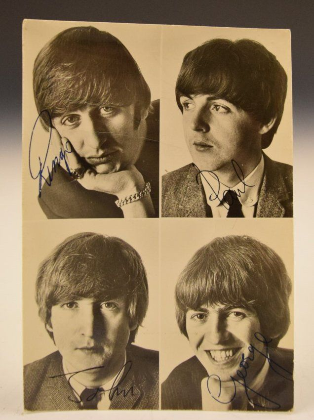 Beatles Band Signed Photograph : Lot 164A