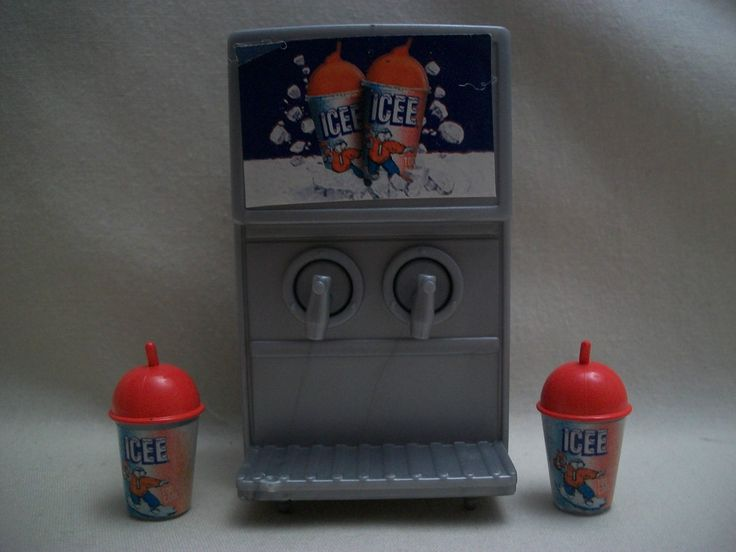 Barbie Doll House Sized Food Mart Accessory Furniture Play Icee Machine 2 Cups | eBay