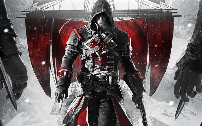 Download wallpapers Assassins Creed Rogue Remastered, 2018 games, poster, Assassins Creed