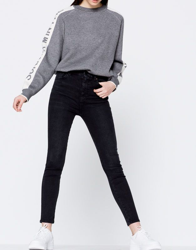 Jeans skinny fit rotos - Jeans - Ropa - Mujer - PULL&BEAR Islas Canarias