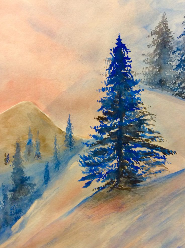 Mountain Heights. Watercolor.