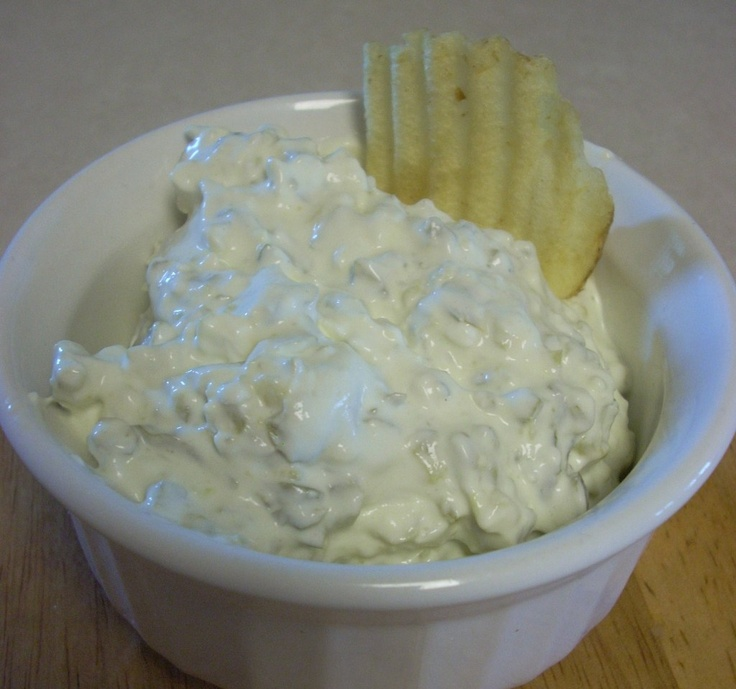 Pickle Dip for potato chips: Sour Cream, Fruit Salad, Fine Chops, Pickle Dips, Cream Cheese, Cookies Recipes, Chips Dips, Pickled Dips, Potatoes Chips Homemade