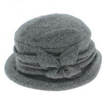 Chapeau confortable en 100% laine taille unique avec fleur décoratif sur le côté