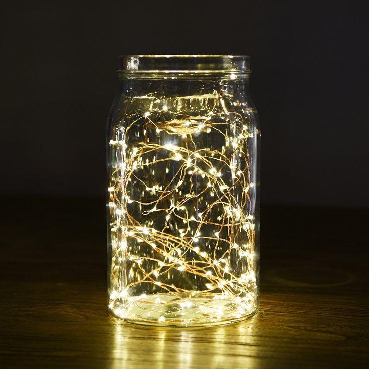 30er LED Draht, Micro Lichterkette Batterie-betrieben Mit Timer für Innen und Außen 8 Modi Wasserdicht Batteriefach auf 9.8ft silbernem Kupterdraht Warmweiß Weihnachtsbeleuchtung Deko Von Oak Leaf: Amazon.de: Beleuchtung