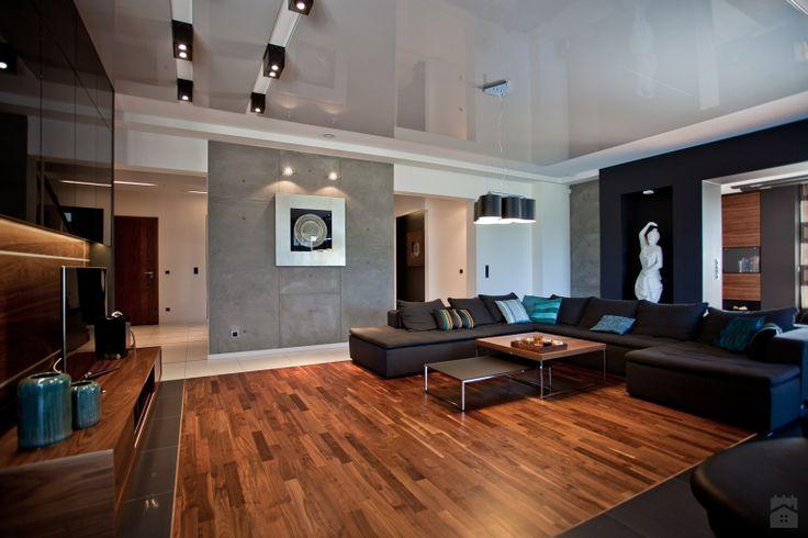 salon w domu jednorodzinnym - Salon - Styl Nowoczesny - A2 STUDIO pracownia architektury i reklamy