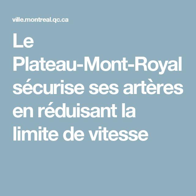 Le Plateau-Mont-Royal sécurise ses artères en réduisant la limite de vitesse