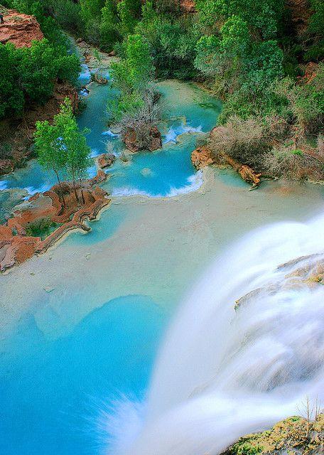 Havasu Falls, Grand Canyon National Park, USA http://www.acmnp.com/employment/grand-canyon-south-rim-jobs