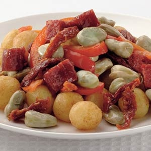 Recept - Spaanse tuinboontjes met gebakken kriel - Allerhande