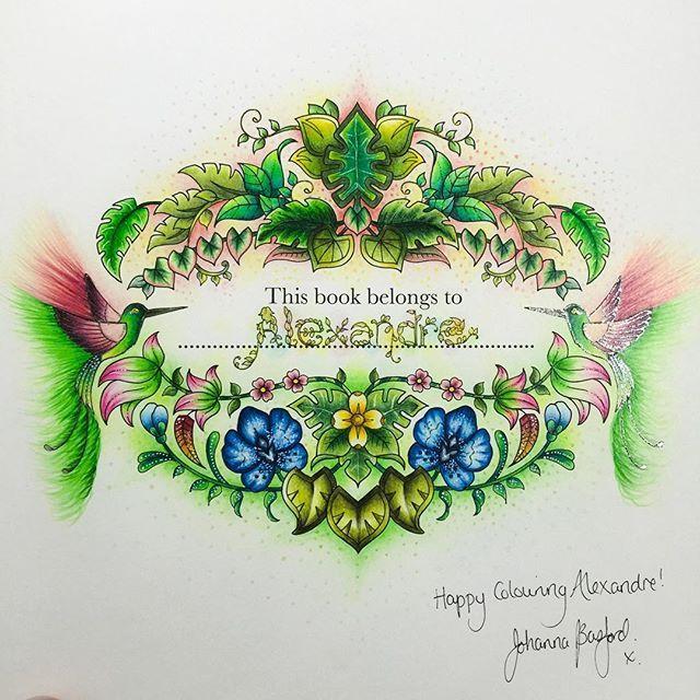 MAGICAL JUNGLE Opening Page O Johannabasford Magicaljungle Selvamagica Alebavascolouring Lapiscoreseafins Adult ColoringColoring BooksColoring